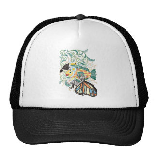 Plant fish and Butterfly cat and Toco toucan Trucker Hat