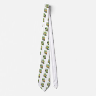 Plant fish and cat butterfly and onioohashi (Plant Neck Tie