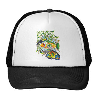 Plant fish and cat butterfly and onioohashi (Plant Trucker Hat