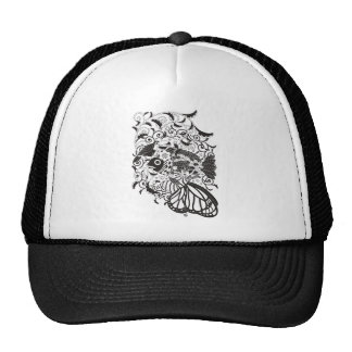 Plant fish and cat butterfly and trucker hat