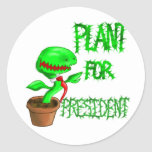 Plant For President Classic Round Sticker