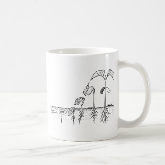 Plant Germination Illustration Coffee Mug