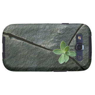 Plant Growing in Cracked Boulder Galaxy SIII Case