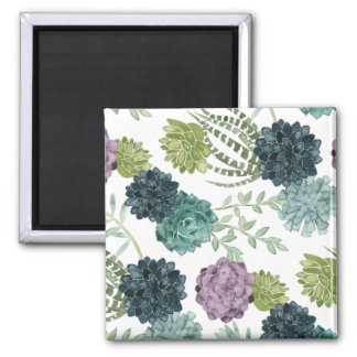 Plant Happiness Collection Succulent Pattern Magnet