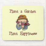 Plant Happiness Gardening Tshirts and Gifts Mousepad