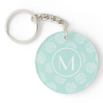Plant Happiness | Pastel Succulent Pattern Keychain