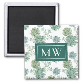 Plant Happiness | Succulent Pattern Magnet