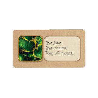 Plant - Hosta Leaves Address Label