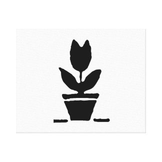 Plant in Flower Pot Stretched Canvas Prints