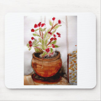 Plant In Terracotta Pot Mouse Pads