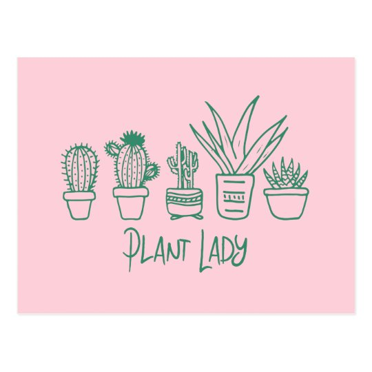 Plant Lady Cactus Succulent Gardening Lover Postcard