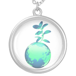 Plant Life Sterling Silver Necklace