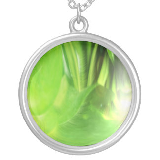Plant Light Silver Plated Necklace