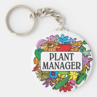 Plant Manager Basic Round Button Keychain