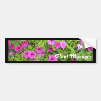 Plant Manager Bumper Sticker