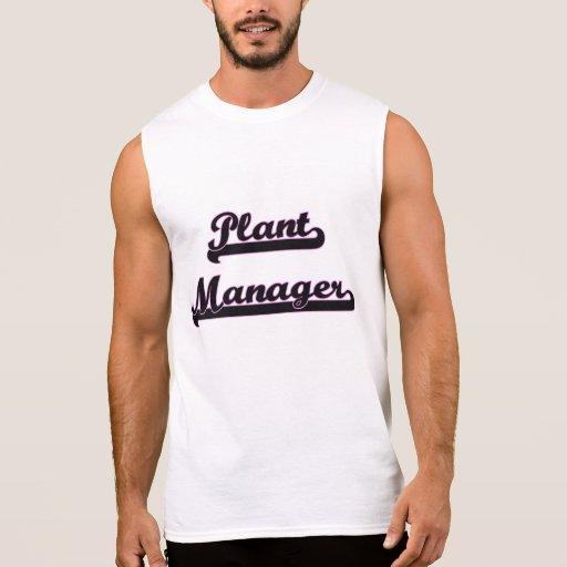 Plant Manager Classic Job Design Sleeveless T-shirts Tank Tops, Tanktops Shirts