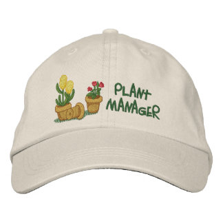 Plant Manager Embroidered Baseball Cap