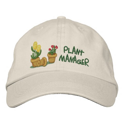Plant Manager Embroidered Baseball Hat
