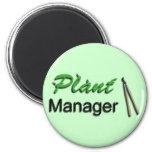 Plant Manager Garden Fridge Magnets