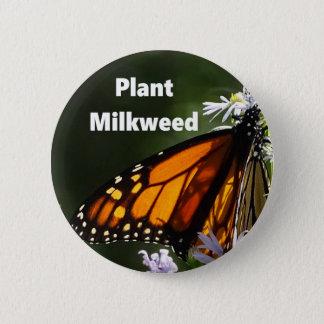 Plant Milkweed Pinback Button