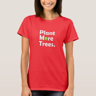 Plant More Tress Woman Dark Shirt