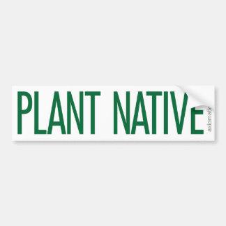 PLANT NATIVE (W) CAR BUMPER STICKER