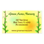 Plant Nursery Business Cards Template Business Card Templates