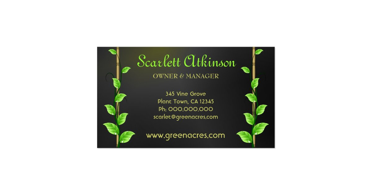 Plant Nursery Business Cards Template Zazzle