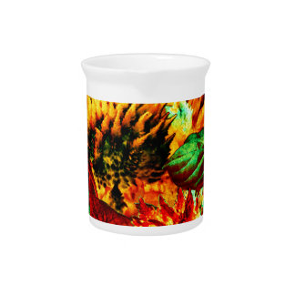 plant on fire drink pitcher