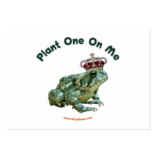 Plant One On Me Frog Toad Kiss Large Business Cards (Pack Of 100)
