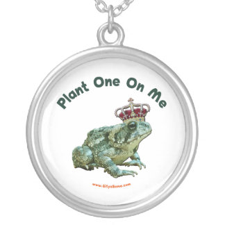 Plant One On Me Frog Toad Kiss Round Pendant Necklace