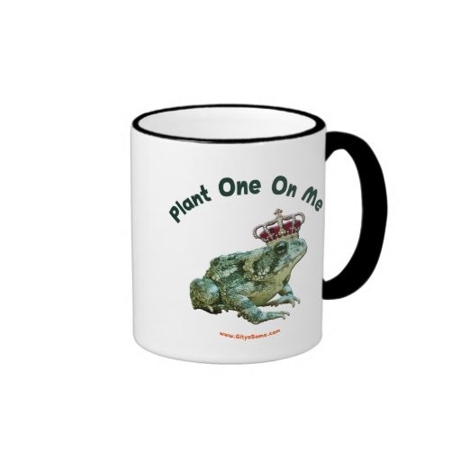 Plant One On Me Frog Toad Kiss Ringer Coffee Mug
