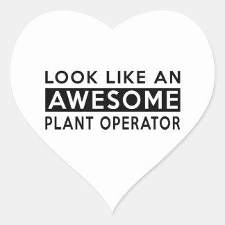PLANT OPERATOR DESIGNS HEART STICKER