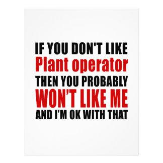 Plant operator Don't Like Designs Letterhead