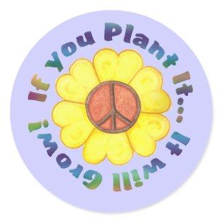 Plant Peace Sticker sticker