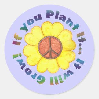 Plant Peace Sticker