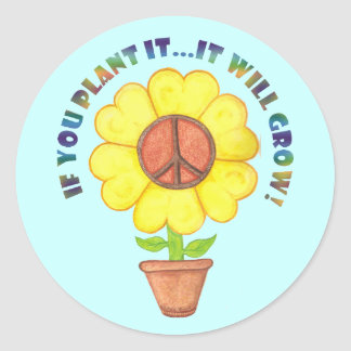 Plant Peace Stickers