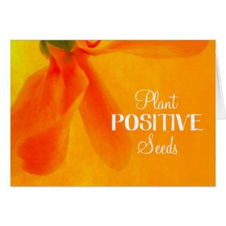 Plant Positive Seeds Flower card