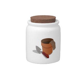 Plant Pot Candy Jar
