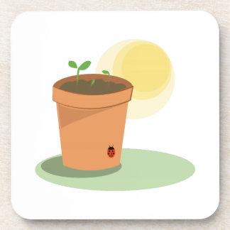 Plant Pot Beverage Coasters