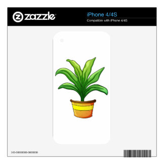 plant pot iPhone 4 decal