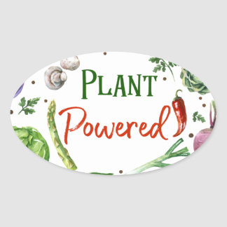 Plant-Powered Designs Oval Sticker