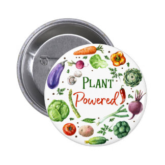 Plant-Powered Designs Pinback Button