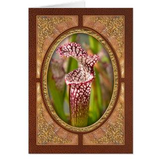 Plant - Pretty as a pitcher plant Card