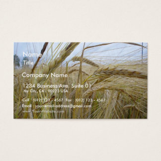 Plant Rye Seed Business Card