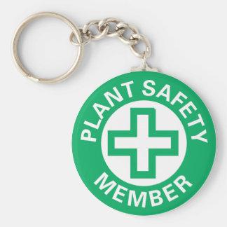 Plant Safety Member Keychain