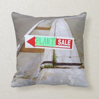Plant sale sign pillow