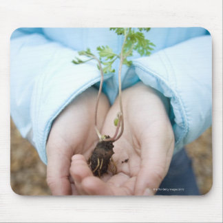 Plant seedling mouse pad