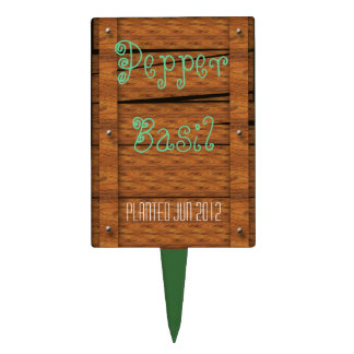 plant stake boardup cake topper
