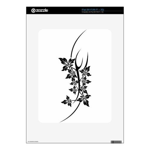 plant tattoo iPad skin